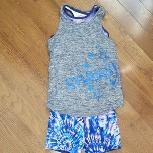 Justice Active Tank with Sports Bra & Shorts